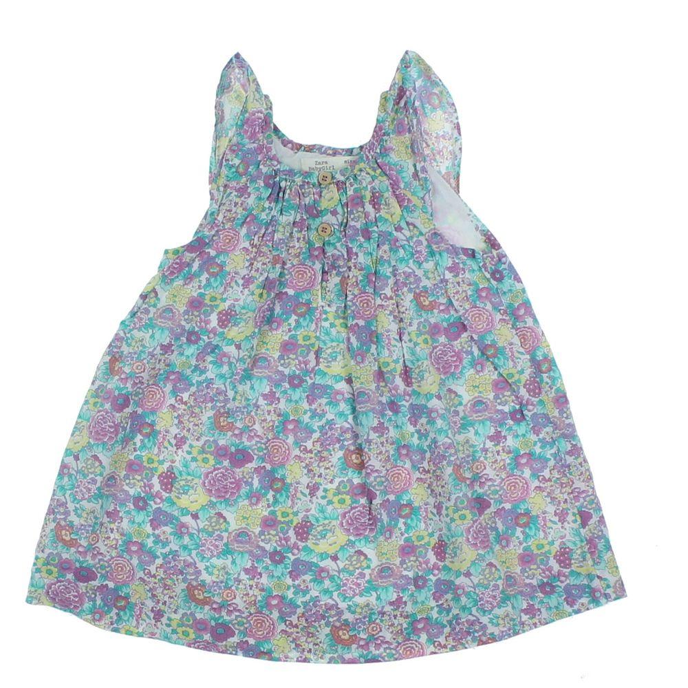 Robe Multicolore Zara 6 9 Mois Pas Cher Vetements Enfant D Occasion